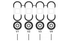 Connection plate 4 ways